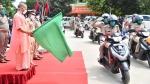 ഉത്തർപ്രദേശ് വനിതാ പൊലീസിന് 100 സ്കൂട്ടറുകൾ സമ്മാനിച്ച് ഹീറോ