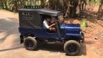 മക്കൾക്കായി മലപ്പുറം സ്വദേശിയുടെ കരവിരുതിൽ ഒരു മിനി ജീപ്പ്