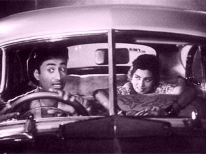 Dev Anand in his Hillman Minx