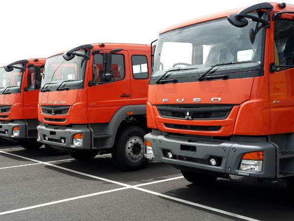 Fuso Trucks Made In India Shipped To Indonesia