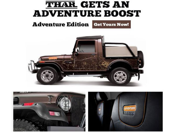 Mahindra Introduces Its Thar Adventure Edition