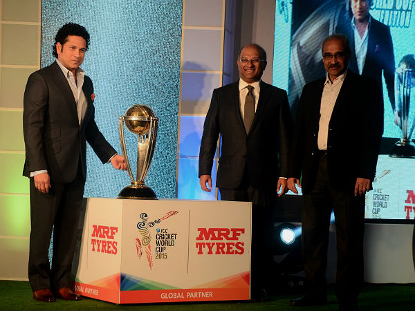 MRF Launches World Cup Edition Tyre With Sachin Tendulkar