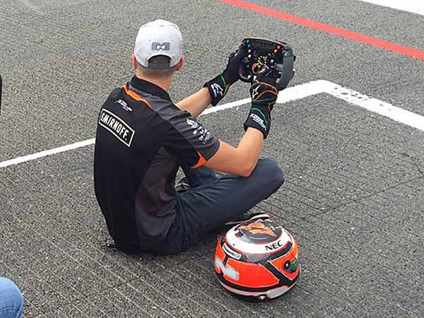 Force India F1 Steering Wheel Stolen At Monza