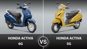 ഹോണ്ട ആക്ടിവ 6G VS ആക്ടിവ 5G ഒരു താരതമ്യം